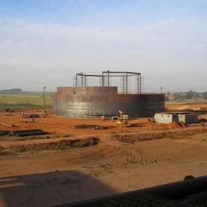 Construção de tanques de armazenamento